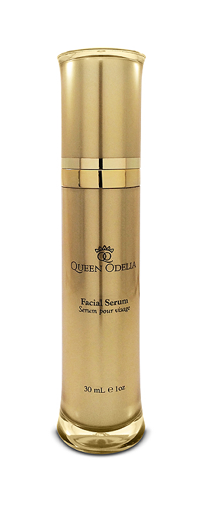 Queen Odelia's Facial Serum invigorates the skin and smells amazing. Your skin will appear noticeably smoother after the first time you apply it.